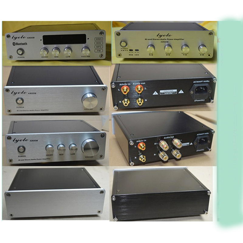 KYYSLB 203*60*169MM X2006 Mini Full Aluminum Amplifier Chassis DIY Enclosure LM4610 Tone Box DAC Preamp Chassis Amplifier Case