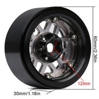 INJORA 4PCS Metal 2.0 Beadlock Rim Wheel Hub Fit 1.9 Tires for 1/10 RC Crawler Axial SCX10 90046 SCX10 III AXI03007 TRAXXAS TRX4 4