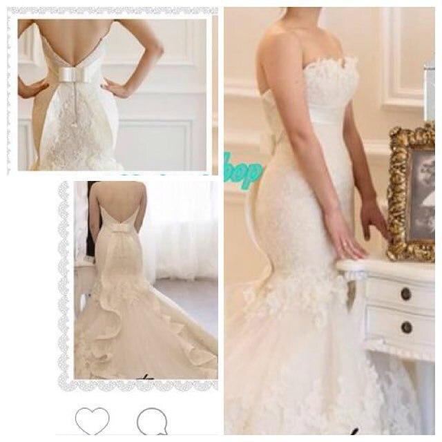 Vestido De Noiva Plus Size Wedding Dress 2015 Hot Sale Sweetangel Lace Beaded Mermaid Wedding Gowns