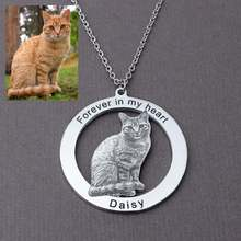 Персонализированная кошка ожерелье с фото для любителей домашних