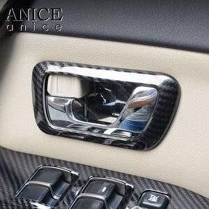 Image 5 - Цветные дверные ручки из углеродного волокна, крышка чаши для Mitsubishi PAJERO 2007 2008 2009 2010 2011 2012 2013 2014 2015 2016 2017 2018 2019