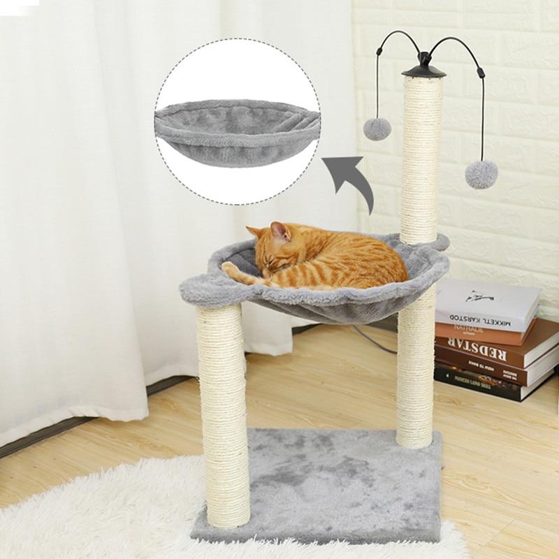 Hammock,Cat Climbing Frame Cat Litter Cat Tree Cat Grab Board Basket Round Big Spoon Cat Litter Hammock
