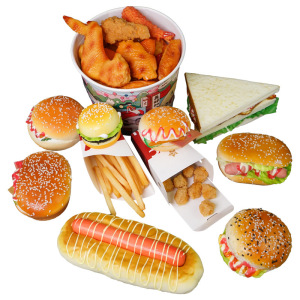 Simulation Fried Chicken Model Food Photo Prop Artificial Hamburger Fake French Fries Cake Funny Toys Fast Food Shop Display Dec