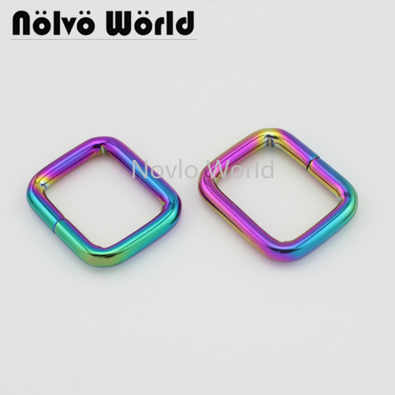 Wholesale 500pcs, 25*19.8mm 1 Inch, Rainbow High Quality Metal Buckle Handbags Buckle Belt Webbing Adjustment Hook Accessories