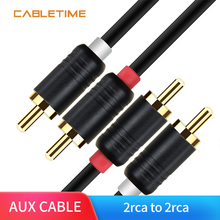 Cabletime 2RCA to 2RCA Male to Male Audio Cable Dual RCA Aud