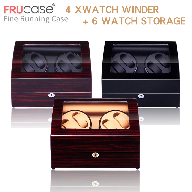 Image 2 - Watch Winder for automatic watches New Version 4+6 Wooden Watch Accessories Box  Watches Storage  Luxury-in Watch Boxes from Watches