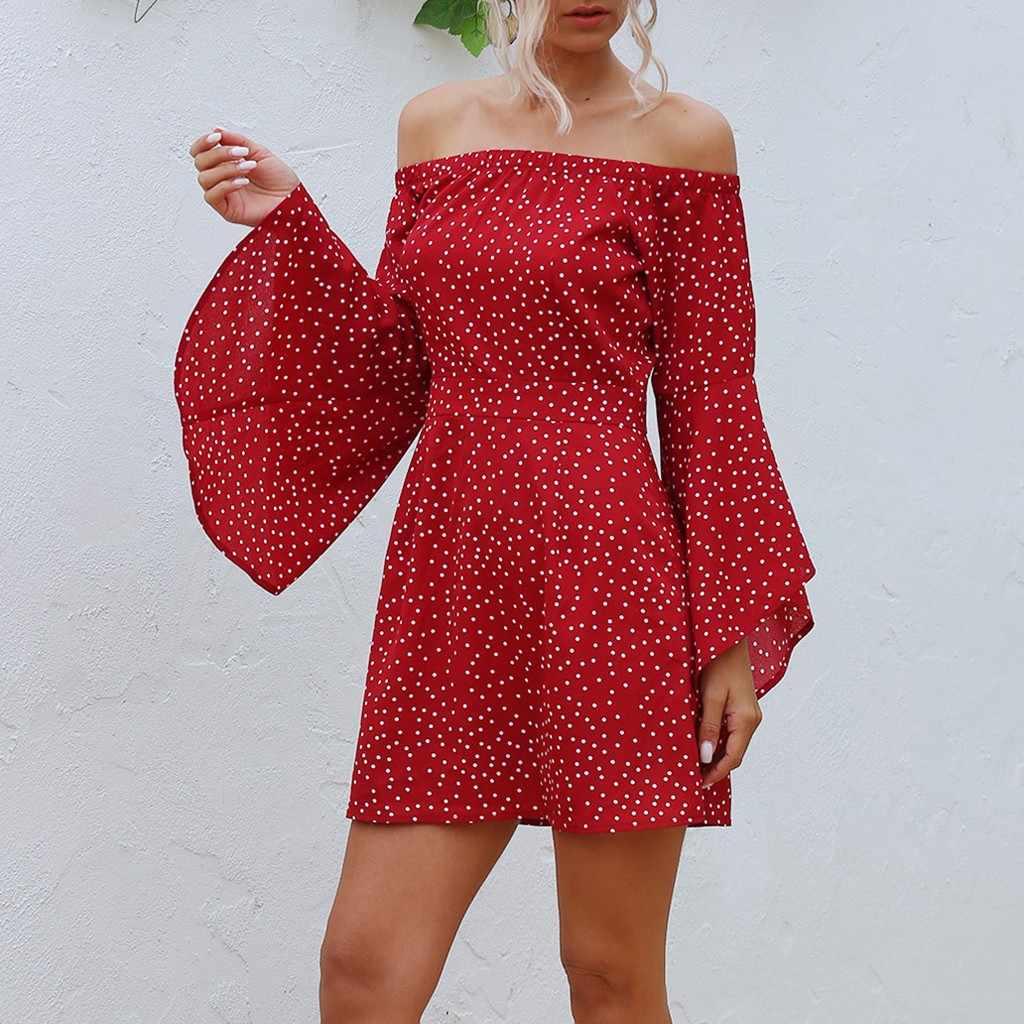 Chuông Tay Áo Đi Biển Mùa Hè Đầm Maxi Voan Đỏ Váy Đầm Hoa Ngắn Midi Đầm Eo Sundress Áo Dây