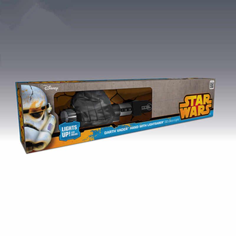 Disney Star Wars Darth Vader Lightsaber el 3D dekorasyon duvar lambası Modern yatak odası başucu lambası X4856
