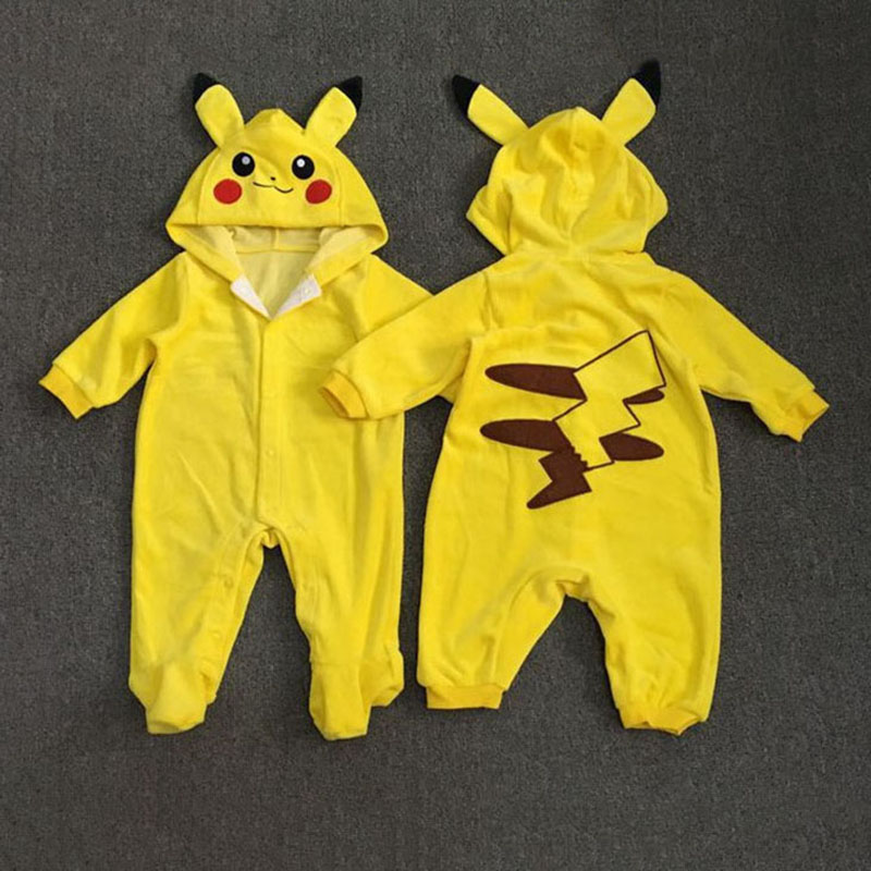 1928S Brand Cartoon Romper Yellow Unisex Baby Onesie Infant Halloween Costume 6 12 18 24 Month Girl Clothes