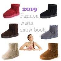 Bottes de neige femme 2019 hiver femmes bottine mode coréenne grande taille antidérapant plat chaussons garder au chaud dames chaussures Botas mujer