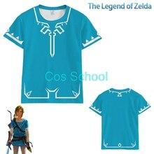 Cos Schule Die Legende von Zelda Link Cosplay t shirt Atem der Wilden t shirt Prinzessin Zelda Kostüme Erwachsene Sommer tops