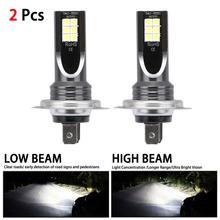 цена на 2PCS H7 6000K 80W 10000Lm Beam Kit LED Fog Light Bulb Day Running Light IP68 LED Car Headlight Conversion Globes Bulbs Headlamp