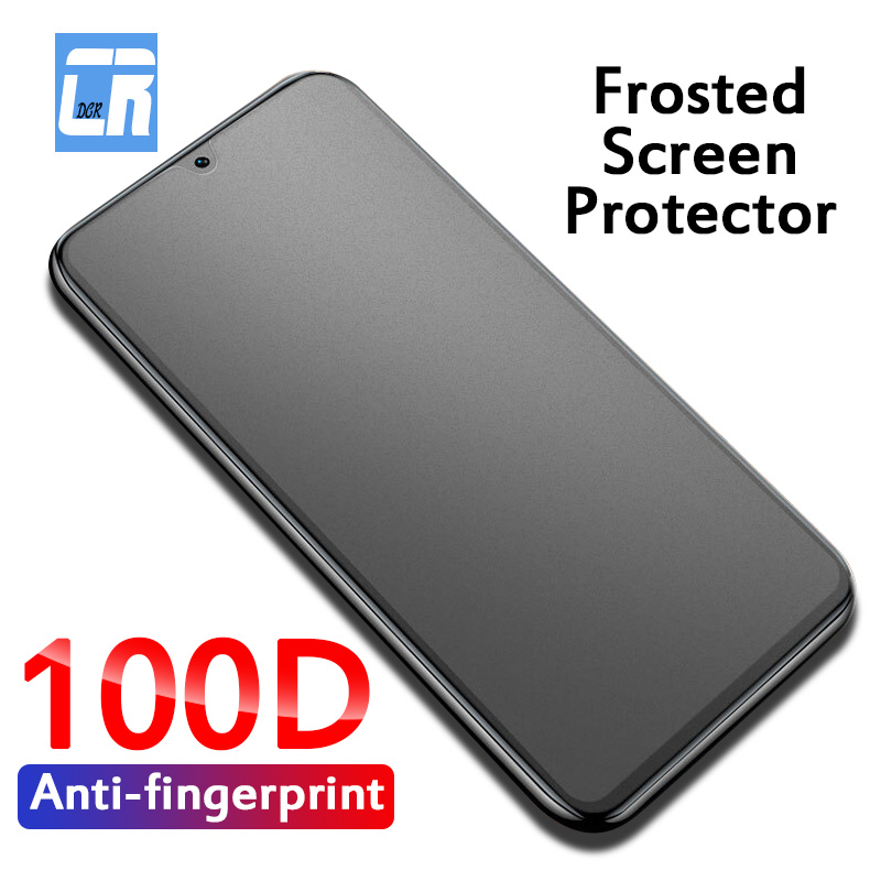 100D Matte Protective Glass For Samsung Galaxy A51 A71 A81 A91 A31 A11 A01 M31 M21 A7 2018 S10E No Fingerprint Screen Protector