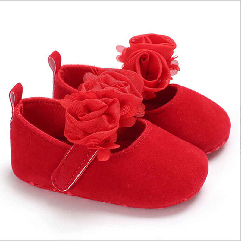 Noworodek 0-18M dziewczęce łóżeczko dziecięce trzy kwiaty miękka podeszwa antypoślizgowa Prewalker 2019