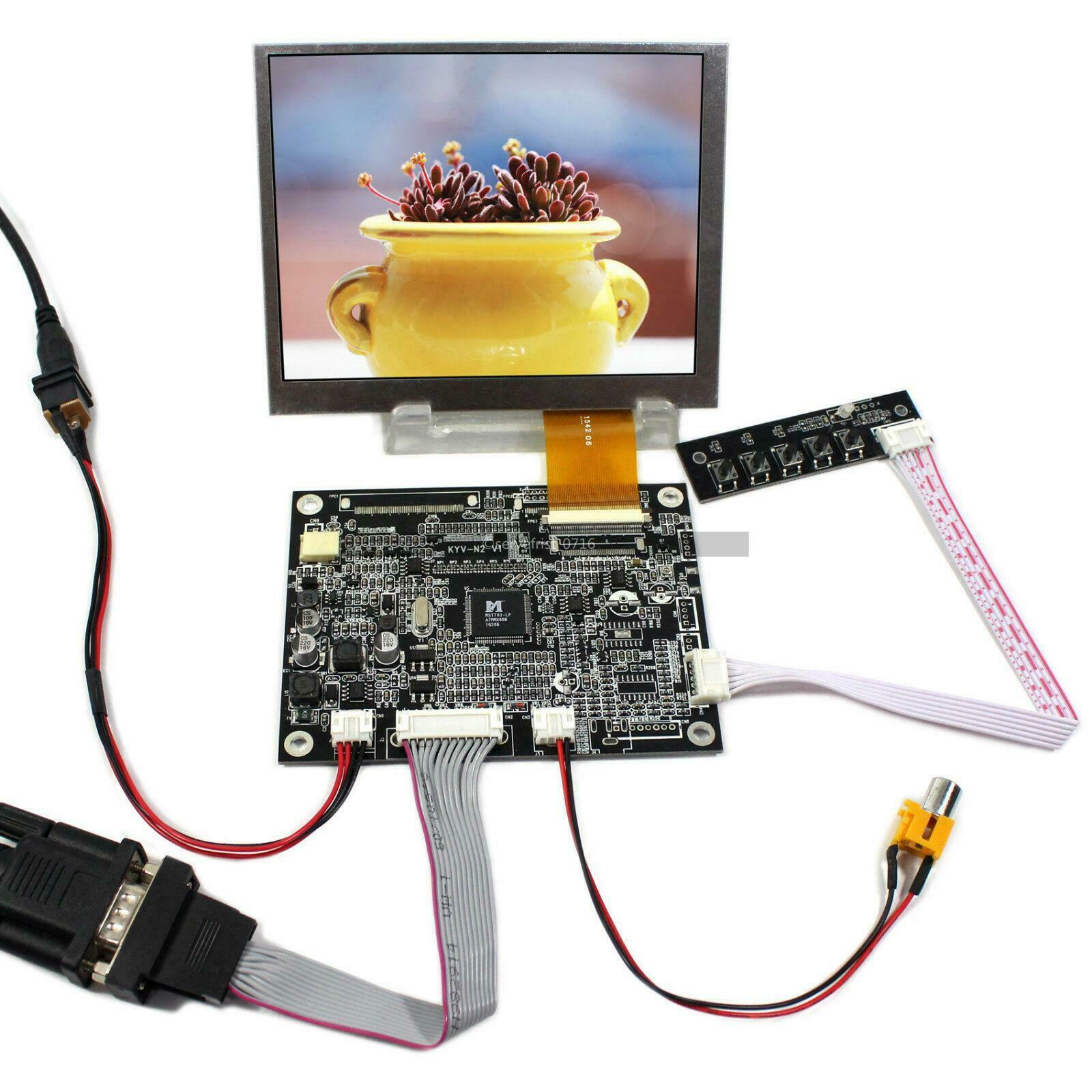 Latumab  5.6inch AT056TN52 V3 LCD Screen + VGA AV LCD Controller Driver Board 640x480