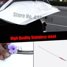 цена на For Toyota corolla Sedan 2019 2020 Accessories LOGO Door Sticker Stainless Steel back door Tailgate trim Car Styling 1pcs