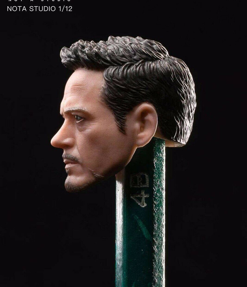 "NOTA STUDIO 1//12 Scale Male Soldier Blade Head Sculpt /&Vest Fit 6/"" Figure Body"