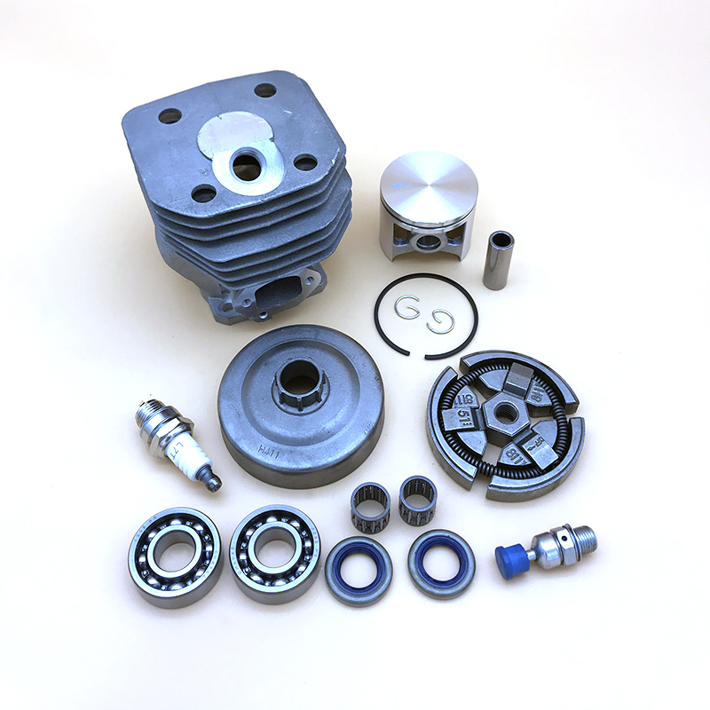 HUNDURE 48MM Cylinder Piston Clutch Crank Bearing Kit For Husqvarna 262 262XP 261 Saw Nikasil Chainsaw Spare Parts