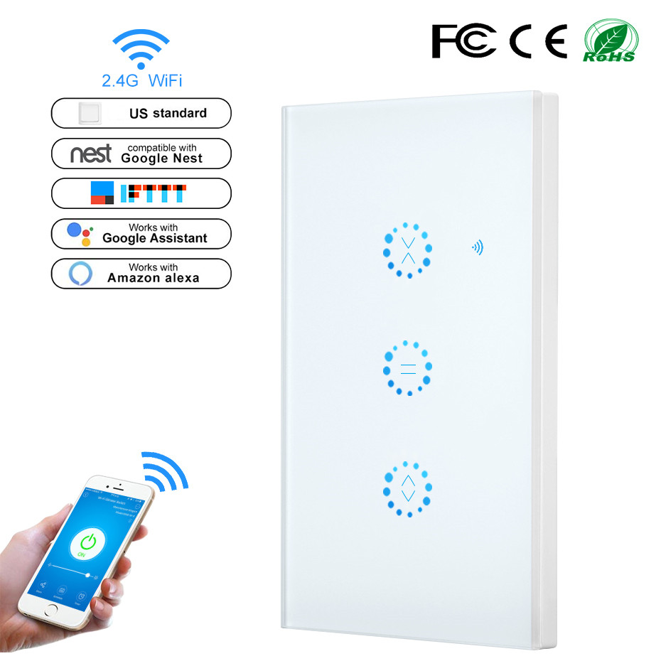 Smart Life WiFi Curtain Switch For Electric Motorized Curtain Blind Roller Shutter Google Home Amazon Alexa Voice APP Control