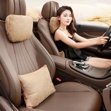 Jinserta encosto de cabeça do carro pescoço apoio assento/maybach design s classe macio universal ajustável travesseiro de carro pescoço resto almofada