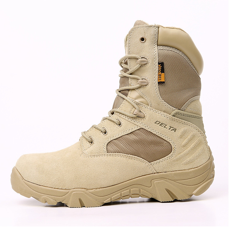 Army Fans Boots Delta Special Forces 07 Combat Boots Hight-top Desert Men's Tactical Boots Hiking Shoes Delt