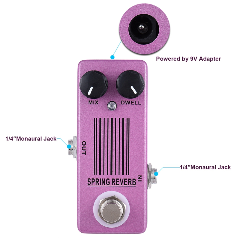 MOSKY MP 51 Spring Reverb Mini Single Guitar Effect Pedal True Bypass Guitar Parts Accessories in Guitar Parts Accessories from Sports Entertainment