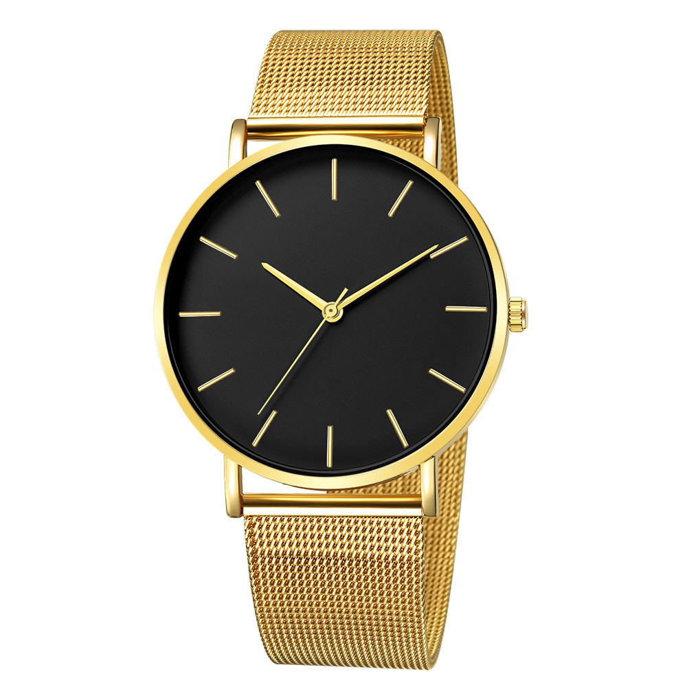 Hc5ed7f5341d44cc39d9fd54c83925e62y Luxury Watch Men Mesh Ultra-thin Stainless Steel Quartz Wrist Watch Male Clock reloj hombre relogio masculino Free Shipping