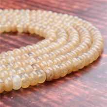 Natural Golden Watermelon Gem 5x8x4x6MM Abacus Bead Spacer Bead Wheel Bead Accessory For Jewelry Making Diy Bracelet Necklace