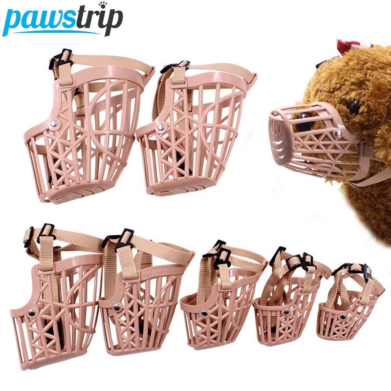 pawstrip 7 Sizes Adjustable Pet Dog Muzzle Basket Strong Anti-biting Dog Mouth Mask For Dogs Cats Pet Muzzle Dog Mouth Basket
