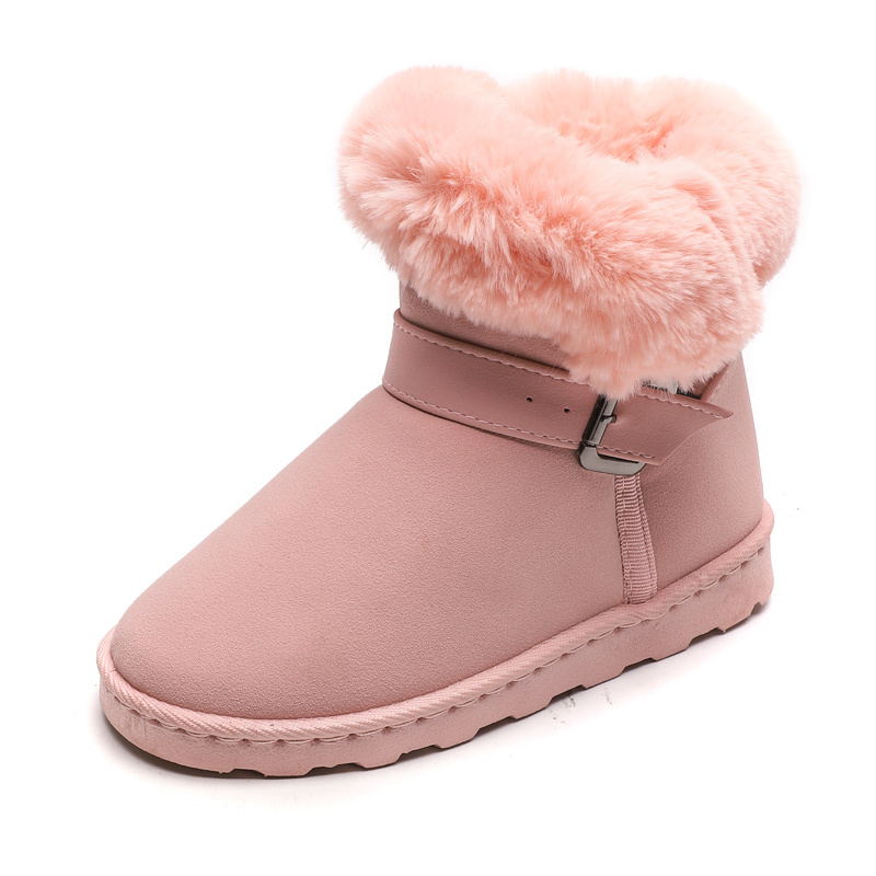 2019 New Big Kids Fashion Boots Warm Plush Children Shoes Girls Winter Princess Snow Boots Size 31 32 33 34 35 36 37 38 39 40