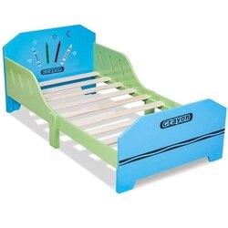 سرير أطفال خشبي تحت عنوان تلوين مع قضبان سرير مستقر ودائم قسط MDF معايير السلامة الصارمة سرير أطفال HW56666