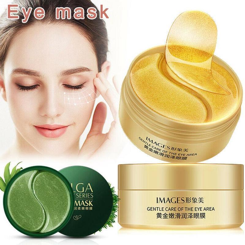 Seaweed-Eye-Mask Moisturizing-Gel Remove-Dark-Circles Pearl Collagen Anti-Wrinkle Black