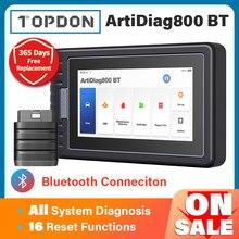 TOPDON ArtiDiag800 BT Car Diagnostic Tool Automotive Scanner Auto Scan Tools Diagnost Tools Bluetooth All System PK MK808BT