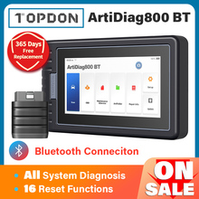 Car-Diagnostic-Tool Automotive-Scanner Bluetooth All-System TOPDON Artidiag800 Pk-Mk808bt
