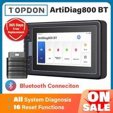 Topdon ArtiDiag800 btカー診断ツール自動車用スキャナー自動スキャンツールdiagnostツールbluetoothすべてのシステムpk MK808BT
