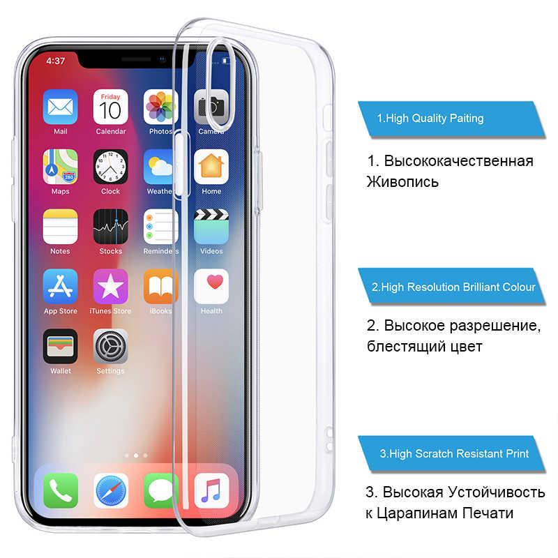 Funda transparente para teléfono para iPhone 7 funda para iPhone XR funda trasera suave de silicona para iPhone 11 Pro XS Max X 8 7 6 6s Plus 5 5S SE funda