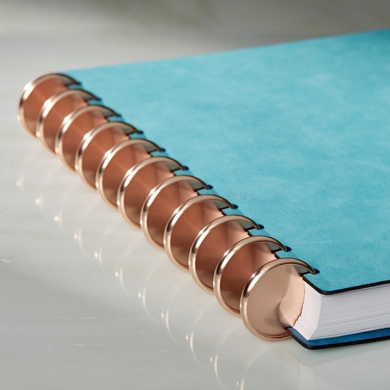 10pcs 24-38mm Metal Binding Ring Buckle A4 Loose-leaf Binding Buckle Mushroom Hole Notebook Binder Rings Disc School Supplies