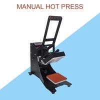 Thermal transfer equipment manual heat press machine small flat drilling rig printed t-shirt hot stamping machine