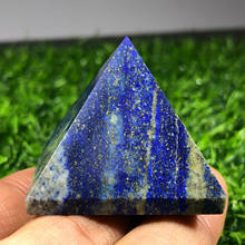 En doğal Lapis lazuli piramit kristal çakralar kuvars değnek noktası şifa
