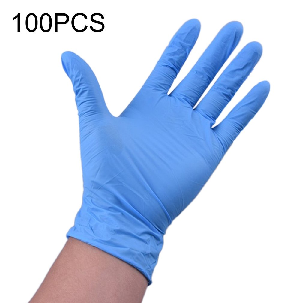 Vinyl Gloves 100 Pcs / Box Disposable Powder-free Industrial Food Safety 3mm Translucent Pvc Gloves Nitrile Gloves