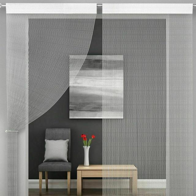 Shiny Tassel-Line Curtains 4