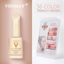 VINIMAY French Nail Art Gel Nail Polish UV Soak Off Gelpolish Gel Polish Color Primer Manicure Nails Gel Lacque Salon 15ml