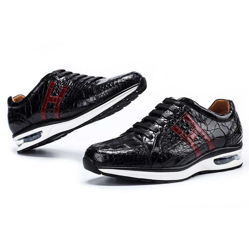 High-end Leisure Shoes Siamese crocodile skin Sneakers for men