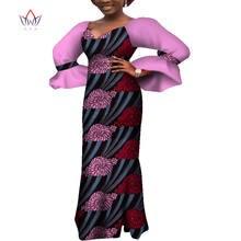 Африканские платья для женщин Дашики африканские принты с длинным