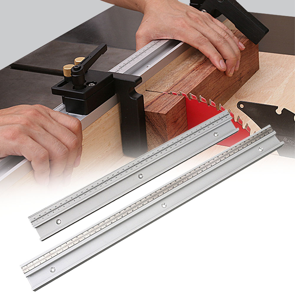 45 Type Workbench Table Saw Woodworking Tools Sturdy Chute Ruler Gauge Slot Miter Aluminum T Track DIY Crafts Movable Scale