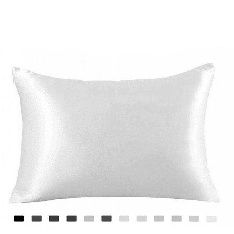 Silk Pillowcase Ice Silk Pillowcase 100% Pure Natural Mulberry Silk Pillowcase Standard Size, Pillow Cases Cover Hidd
