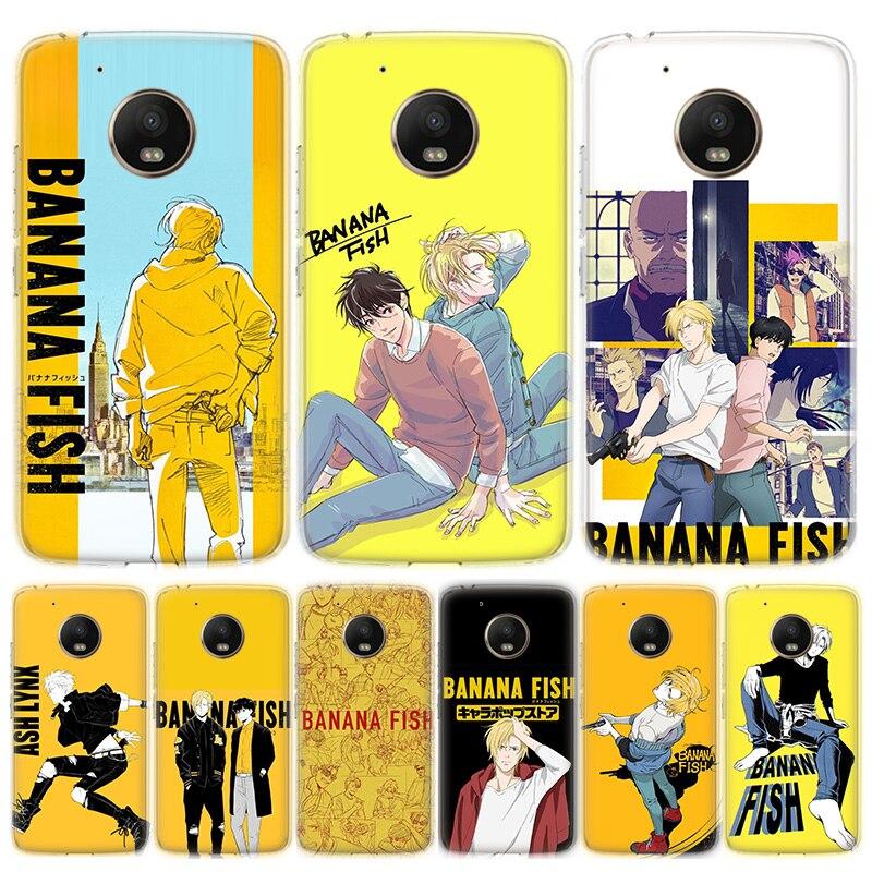 Banana Fish Cartoon Phone Case For Motorola MOTO G8 G7 G6 G5 G5S G4 E6 E5 E4 Plus Play Power One Action Soft Silicone TPU Cover
