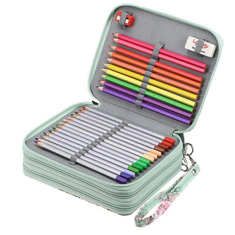 Kawaii ดินสอสำหรับโรงเรียนกล่องปากกาขนาดใหญ่ 72/120 หลุม Penal Bee น่ารักลิง Pencilcase ตลับหมึกขนาดใหญ่เครื่องเขียนเกาหลีชุด
