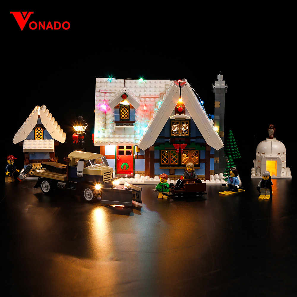 Vonado Led Light For Lego10229 LIGHT KIT Christmas Winter Village for 36001 Creator City Train Building Blocks Only Light P114