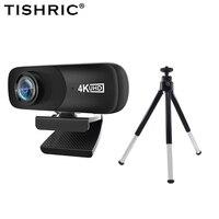 TISHRIC Beste C160 Webcam 4K Volle HD 4096 × 2160P Web Cam 800W Pixel 120 ° Breite winkel Computer Kamera Web Kamera mit Mikrofon
